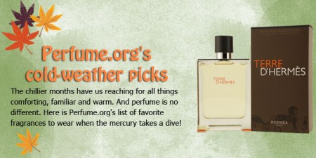 Fall and winter fragrances